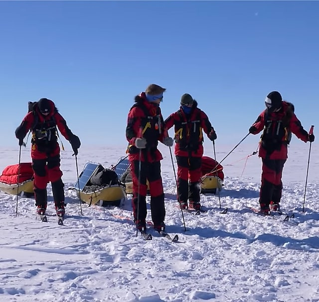 Four explorers in the South Pole